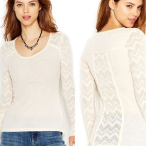 Lucky Brand | Ginny Lace Chevron Thermal sz S